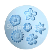 SILICONE MOULD FLOWERS ASSORTED 6PC