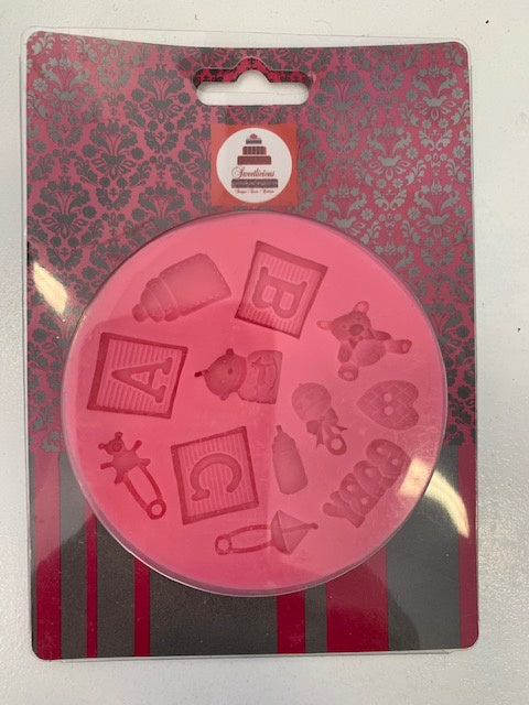BABY SILICONE MOULD ABC ROUND
