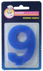 PLAIN NUMBER CANDLE - 9 (12)