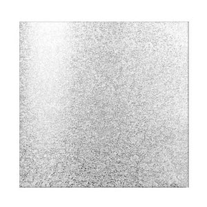 CAKE BOARD | SILVER | 10 INCH | SQUARE | MDF | 6MM THICK