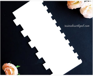 ROSIE'S DESSERT SPOT | DOUBLE SIDED SQUARE FROSTING COMB