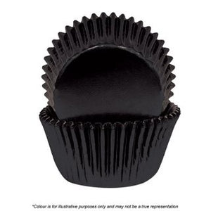 CAKE CRAFT | 700 BLACK FOIL BAKING CUPS | PACK OF 72