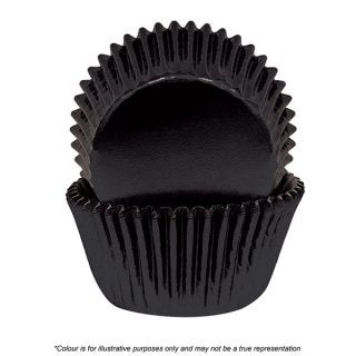 CAKE CRAFT | 408 BLACK FOIL BAKING CUPS | PACK OF 72