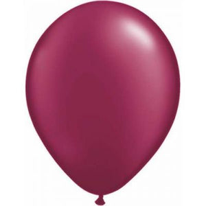"LATEX 11"" BALLOON PEARL BURGANDY"