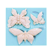 SILICONE MOULD BUTTERFLY ASSORTED 3PC