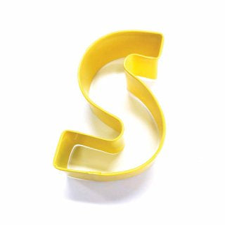 LETTER S | COOKIE CUTTER | YELLOW