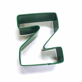 LETTER Z | COOKIE CUTTER | GREEN