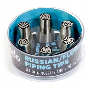 MONDO RUSSIAN/FLOWER PIPING TIP 10 PCE SET