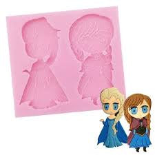 FROZEN ANNA & ELSA SILICONE MOULD