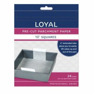 LOYAL | 10 INCH | SQUARE | PRE-CUT PARCHMENT PAPER