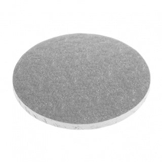 CAKE BOARD | SILVER | 8 INCH | ROUND | MDF | 6MM THICK