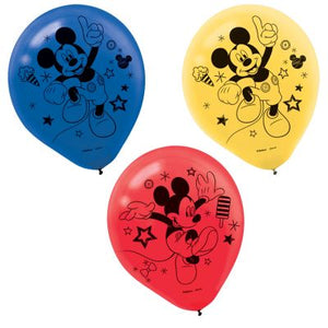 "LATEX  MICKEY MOUSE ON THE GO  12"" 6 PACK"