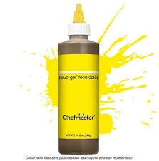 CHEFMASTER | NEON BRIGHT YELLOW | AIRBRUSH FOOD COLOUR | 9 OZ/255 GRAMS