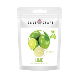 CAKE CRAFT | NATURAL DRIED FRUIT POWDER | LIME | 50G