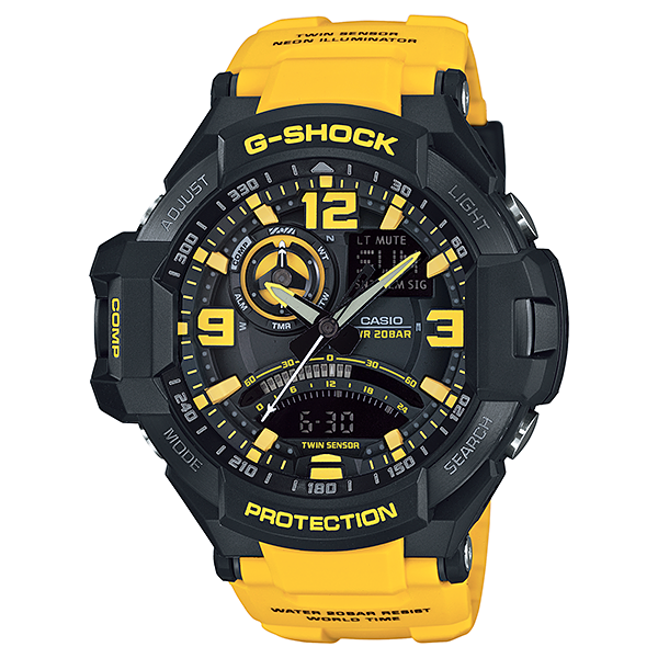Reloj Casio G-Shock Aviator GA1000 Amarillo