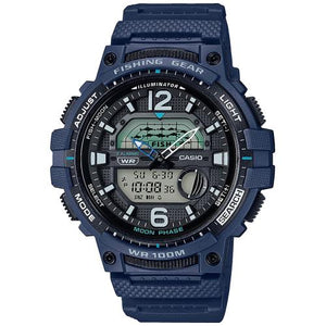 Reloj Casio WSC1250 Azul Fishing Time y Fases Lunares