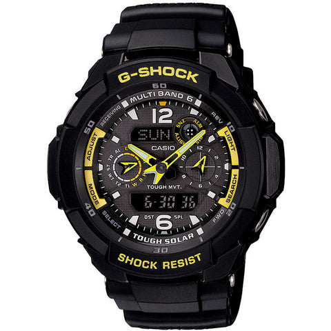 Reloj Casio G-Shock Air Race GW3500 Amarillo Solar Radio Controlado