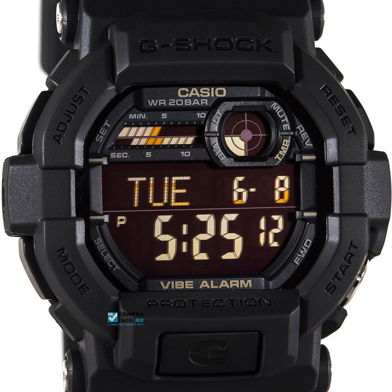 6eb508257f3f ... Reloj Casio G-Shock GD350 Negro Alarma Vibratoria Super LED ...