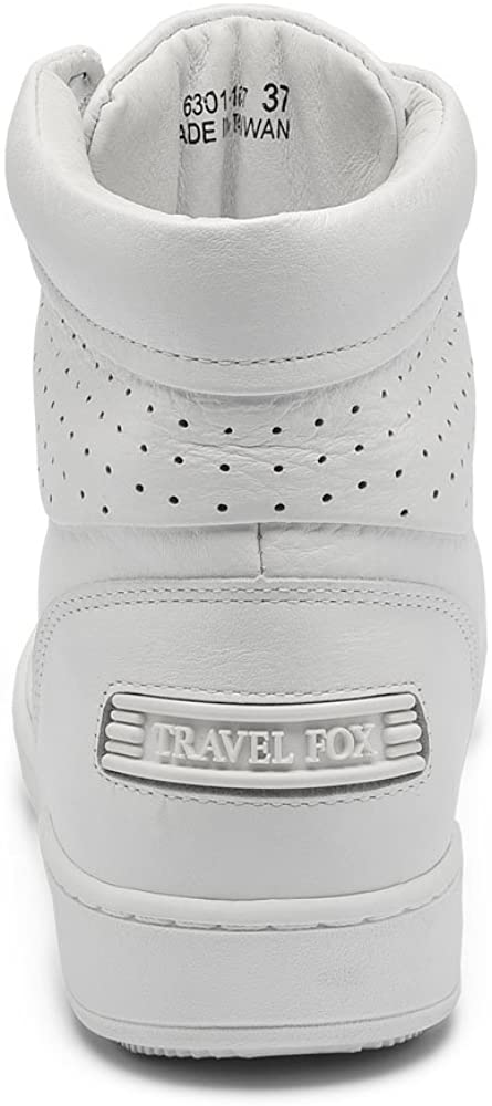 TRAVEL FOX Men's 900 Nappa Leather Round Toe Lace-Up High-Tops