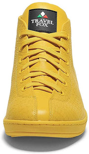 TRAVEL FOX Men's Malibu Nappa Leather Round Toe Lace-Up High-Tops