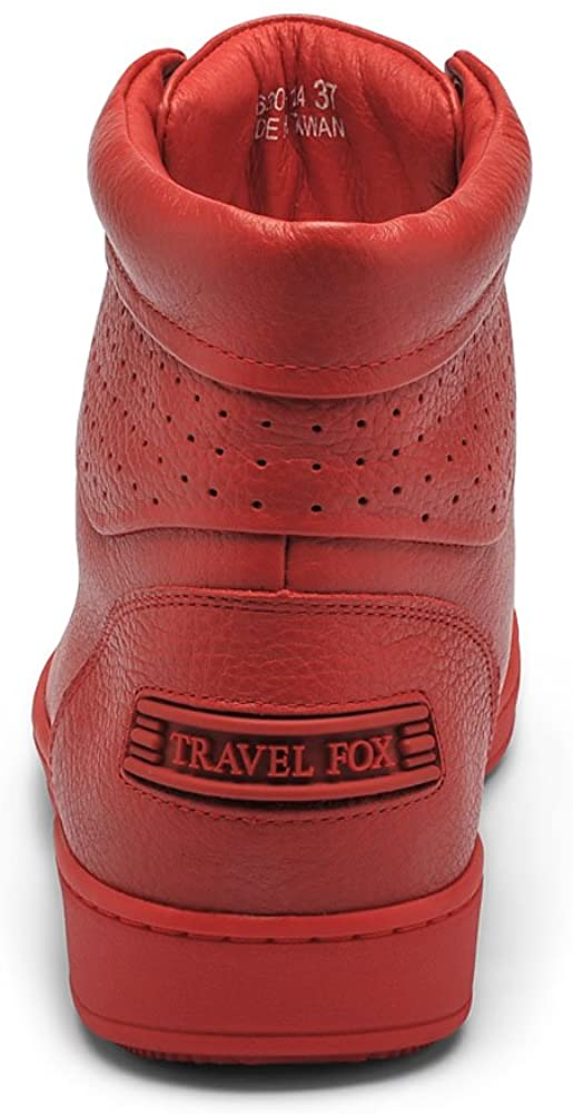 TRAVEL FOX Women's 900 Nappa Leather Round Toe Lace-Up High-Tops