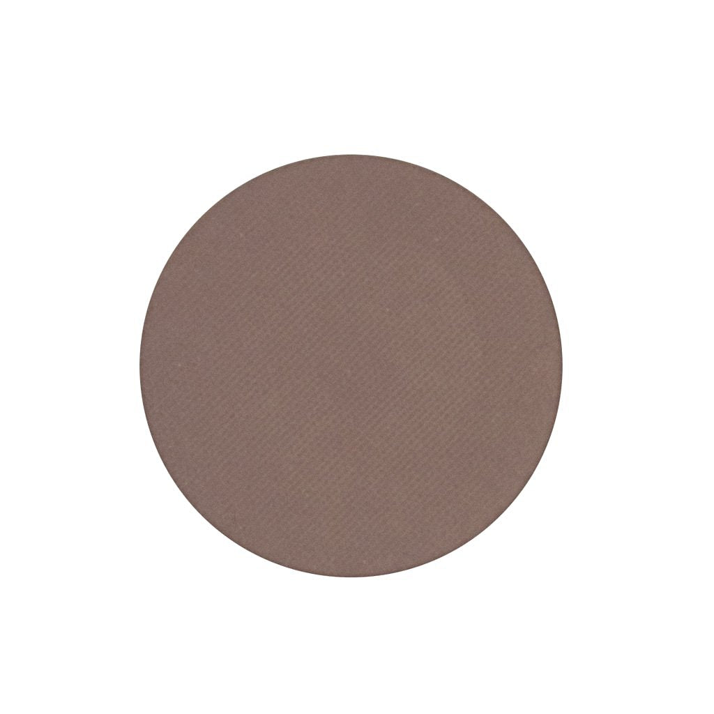 A matte light brown single eyeshadow. Beautiful, long-lasting color.