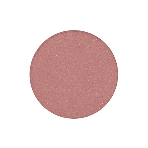 A peachy pink with a golden shift single eyeshadow. Beautiful, long-lasting color.