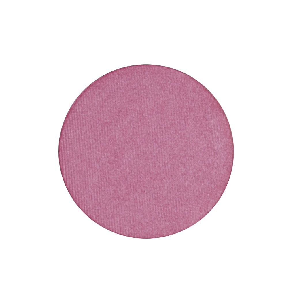 A frosted hot pink single eyeshadow. Beautiful, long-lasting color.