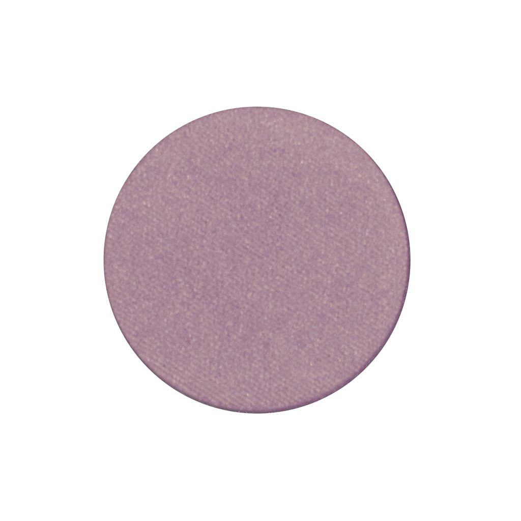 A frosted lavender with a champagne shift single eyeshadow. Beautiful, long-lasting color.