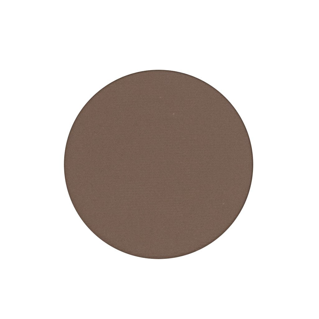 A matte cool toned medium brown single eyeshadow. Beautiful, long-lasting color.