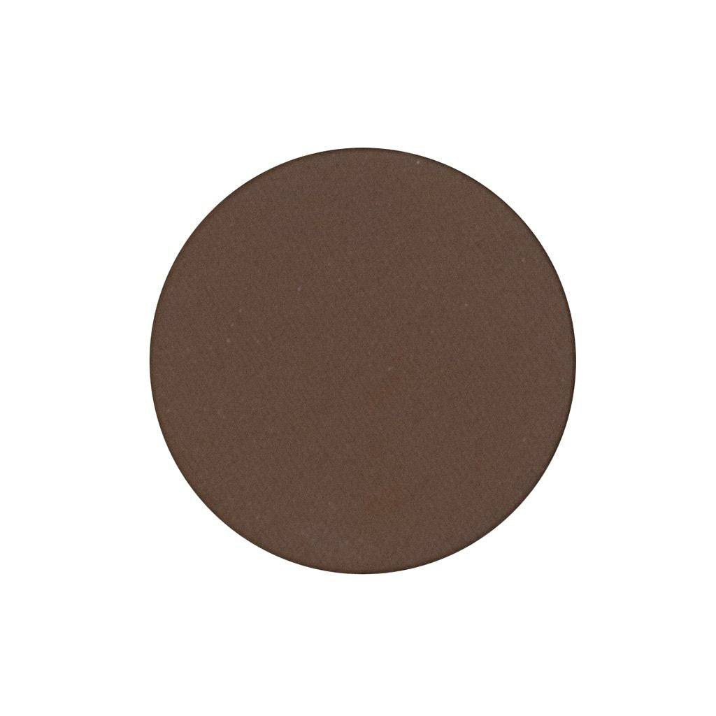 A matte brown single eyeshadow. Beautiful, long-lasting color.