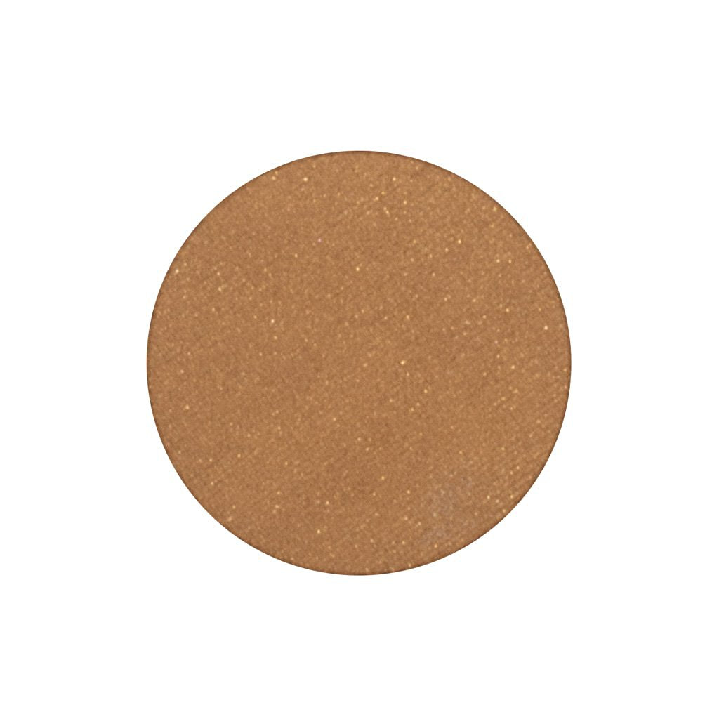 An intense frosted coppery gold single eyeshadow. Beautiful, long-lasting color.