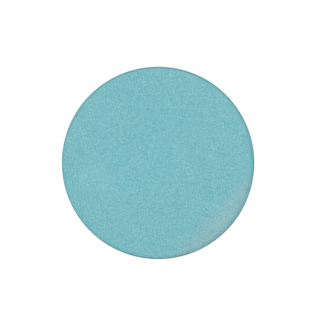 A frosted robin's egg blue single eyeshadow. Beautiful, long-lasting color.