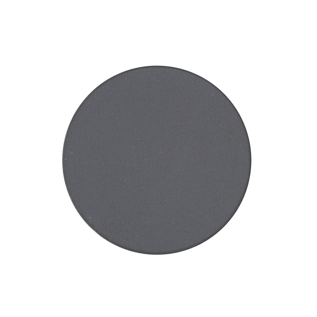 A matte medium gray single eyeshadow. Beautiful, long-lasting color.