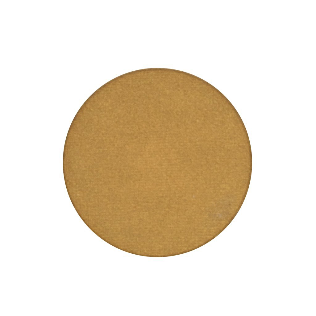 A frosted gold single eyeshadow. Beautiful, long-lasting color.