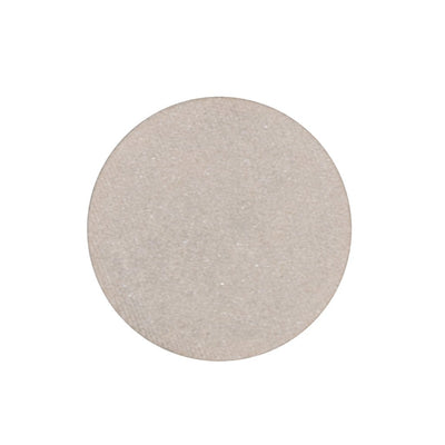 A frosted sugar cookie dough silver single eyeshadow. Beautiful, long-lasting color.