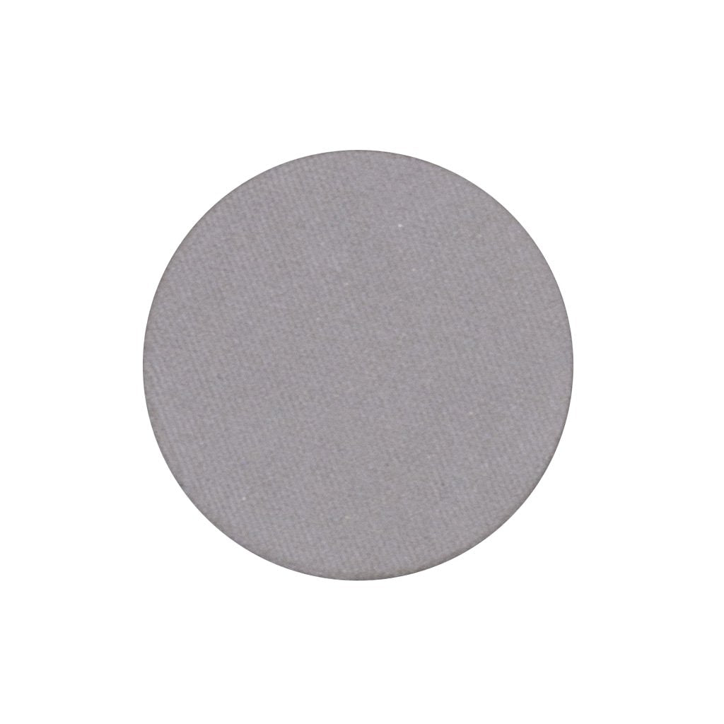 A frosted cool toned gray single eyeshadow. Beautiful, long-lasting color.