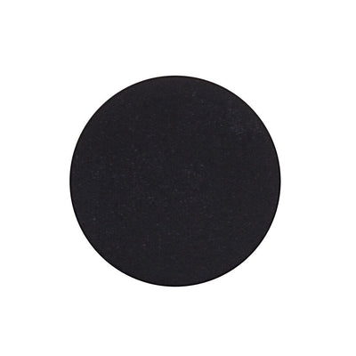A matte deep dark black single eyeshadow. Beautiful, long-lasting color.