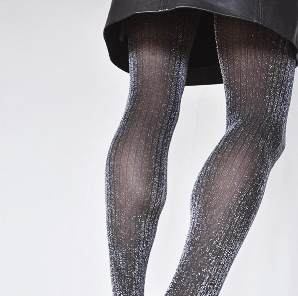 Lisa Lurex Rib Tights