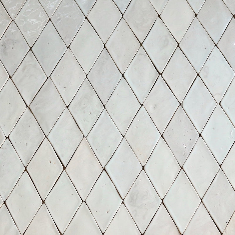 Marbled Diamond Tile Milky Glaze
