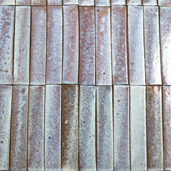 Mottled Gloss White Terracotta 330x65