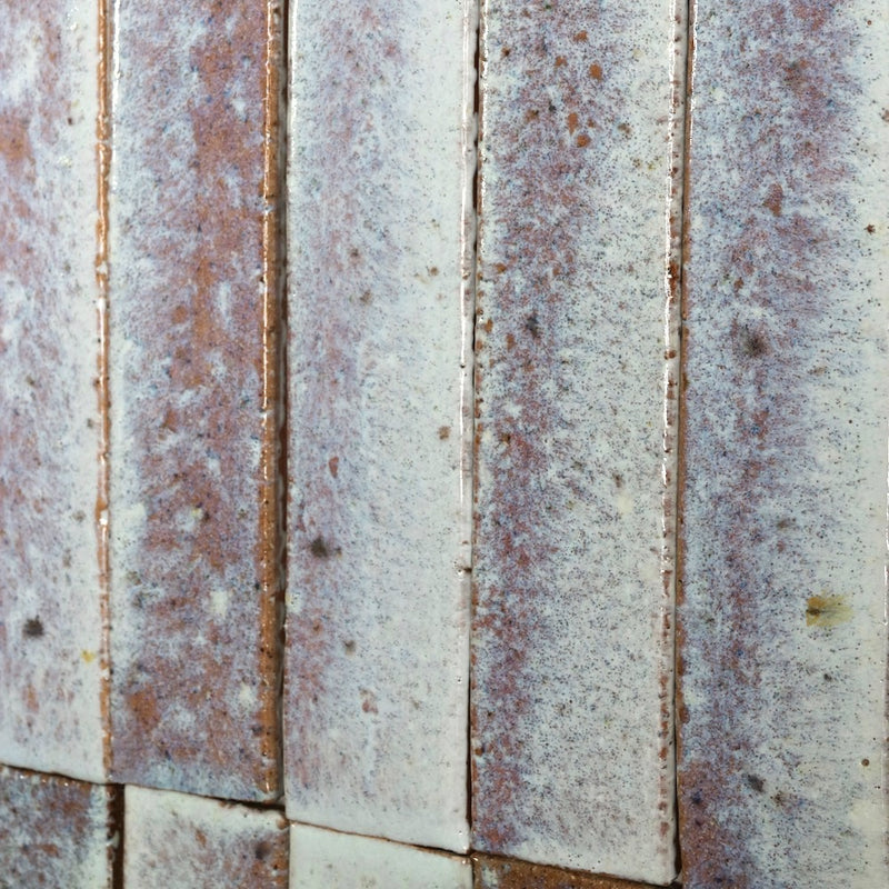 Mottled Gloss White Terracotta Tile