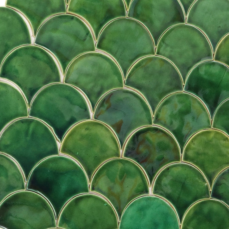 Fish Scale Green Glaze 100x100