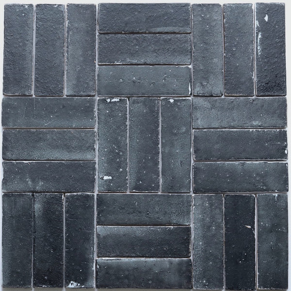Pascalli Rectangular Tile Black Satin Matt 195x65