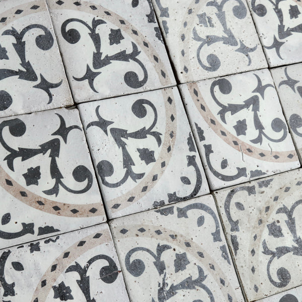 Pattern Matt white glaze Tile 187x187