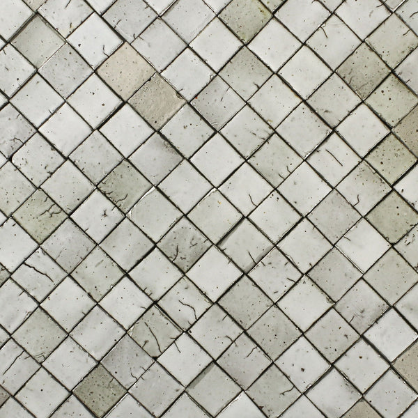 Chunky Square Tile Glazed White
