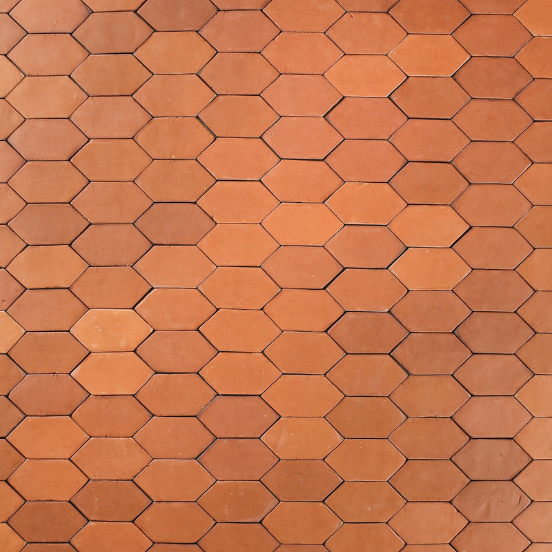 Vitrified Terracotta Lozenge Tile
