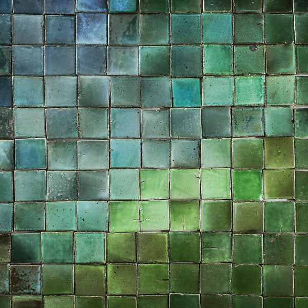Chunky Tile glassy greens