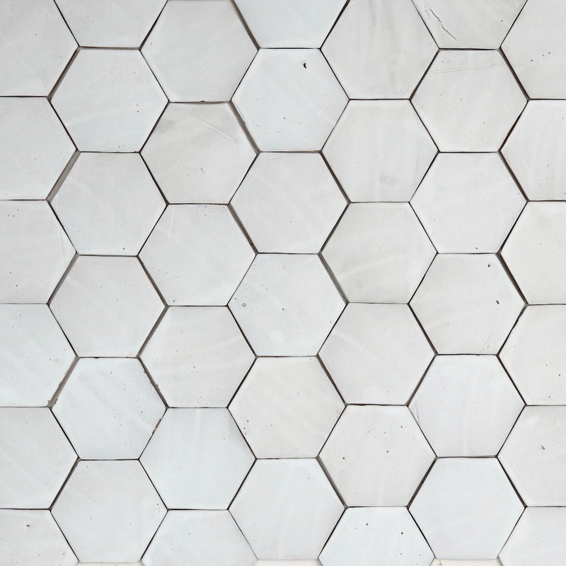 Matt White Glaze Hexagon 143x126