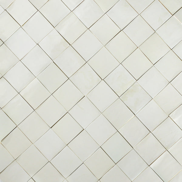 White Glazed Handmade Tile